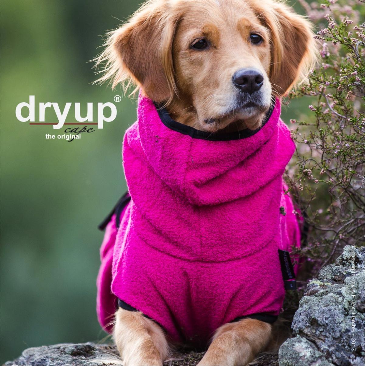 d70996e853a3e dryup Cape PINK - Hundebademantel optional mit Name bestickt ...