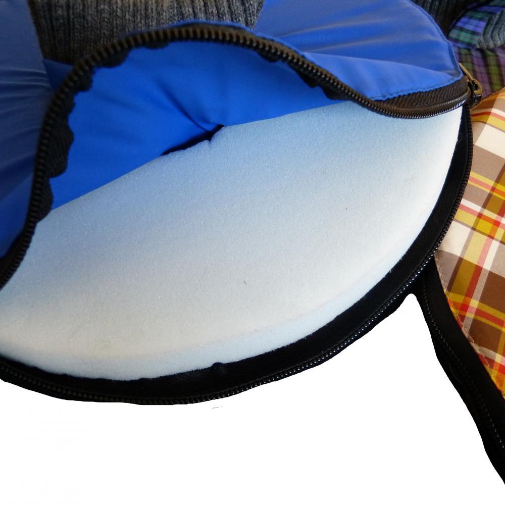 petoflex leckschutz f hunde farbe dunkelgrau mit grauem kragen eur 30 00 mein. Black Bedroom Furniture Sets. Home Design Ideas